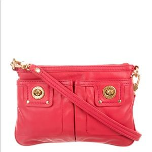 Marc Jacobs turnlock hot pink leather crossbody